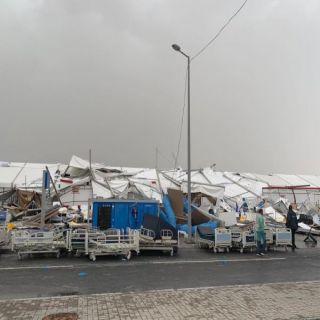 إنهيار مستشفى ميداني في #قطر .يفضح نظام الحمدين ..ومٌغردون أين #قناة_الجزيرة