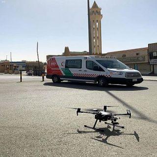 """الهلال الأحمر :طائرات """"درون"""" تُراقب درجات حرارة المتسوقين بسوق خضار #بريدة"""