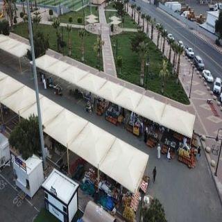 """#كورونا يُحول سوق """"السمبوسة """" في عسير إلى سوق خضار مؤقت"""