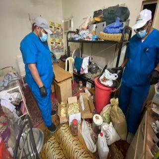 في #البكيرية البلدية تضبط عمالة اتخذوا مقر سكنهم مقراً لإعداد وتجهيز الأطعمة