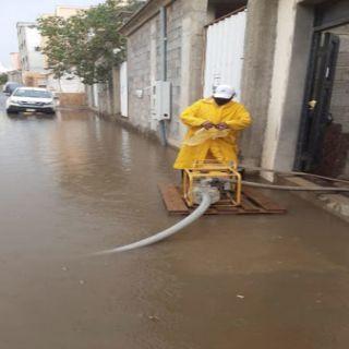 #أمانة_عسير تسحب أكثر من 500 طن من مياه الأمطار
