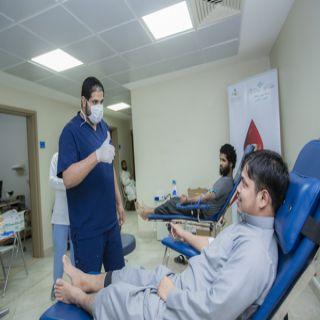 #جامعة_القصيم تشارك في حملة أمير المنطقة للتبرع بالدم بالسكن الجامعي