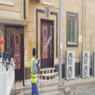 تطهير وتعقيم المساجد والجوامع في #المجاردة ومراكزها