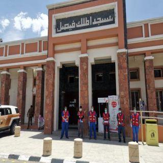 الهلال الأحمر في عسير يُشارك بعدد من نقاط الفرز بجوامع المنطقة