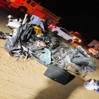 حادث تصادم بعقبة ضلع يخلف عدد من الوفيات والإصابات