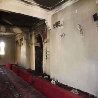 مدني #عنزية يُخمد حريق مسجد بشارع الملك سعود بحي القادسية