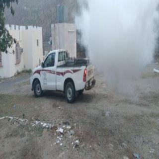 #بلدية_بارق تواصل أعمال الإصحاح البيئي بقرى جبل بركوك شرق ثلوث المنظر