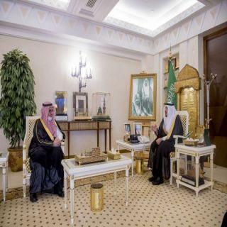 سمو أمير #القصيم يلتقي الحميد بمناسبة تعيينه عضواً بمجلس منطقة القصيم