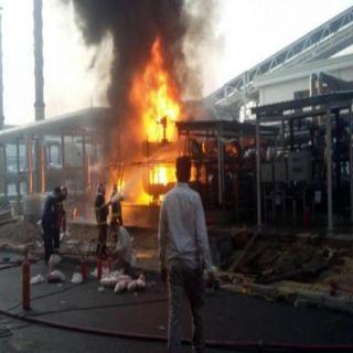 حريق في مجمع المنيوم يستخدم في الصناعات الدفاعية جنوبي #إيران