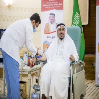 """سمو أمير القصيم يدشن حملة """"دمي لضيوف الرحمن"""""""