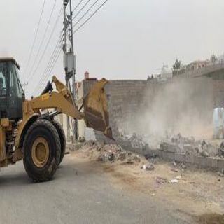 """#أمانة_جدة تزيل تعديات على ارض حكومية بحي """"حكومية بحي """"الأجواد الشعبي"""""""
