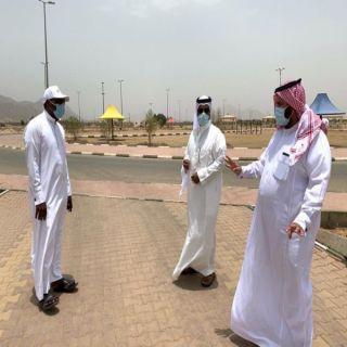 آل مرزن والشهري يقفان على تأهيل حديقة خبت آل حجري في #بارق