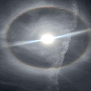 #الزعاق يوضح اسباب حدوث هالة الشمس التي ظهرت اليو في #حفر_الباطن