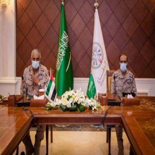 """الفريق الركن """"الأزيمع"""" و اللواء الركن """" العامري"""" يستعرضان الوضع في اليمن"""