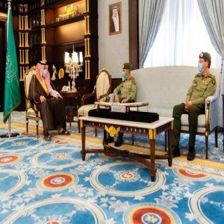 سمو أمير الباحة يستقبل العميد العمري بمناسبة تعيينه مديرا لجوازات المنطقة
