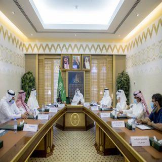 سمو أمير القصيم يعقد اجتماعاً مع رئيس وأعضاء مجلس إدارة جمعية سكر
