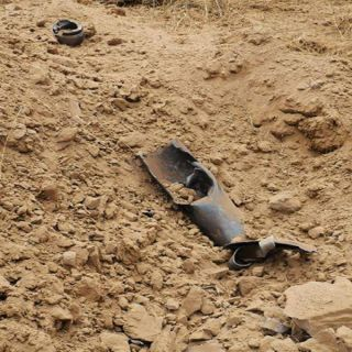 مدني #جازان المقذوف الحوثي الذي استهدف قُرى #جازان سقط دون اضرار