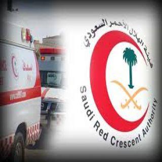 الهلال الأحمر :إصابة 13 شخصًا ووفاة آخر بحادثين سير منفصلين في عسير