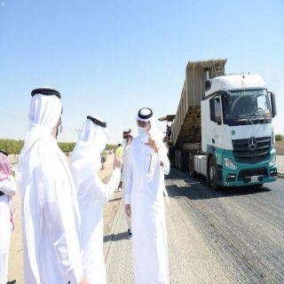 وزير النقل يتفقد أعمال الإصلاح والصيانة على طريق #الرياض - #الطائف