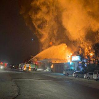 #مدني_الرياض يُخمد حريق بمصنع في الصناعية الثانية