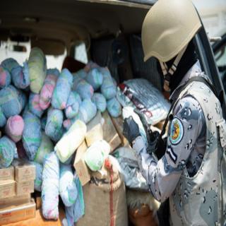 حرس الحدود في #جازان يُحبط تهريب أكثر من 2.5 طن من القات