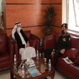 أمين عسير يستقبل مدير الدوريات الأمنية بالمنطقة