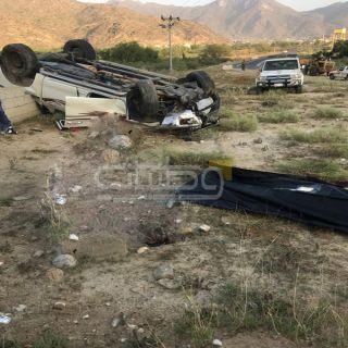 وفاة قائد مركبة في حادث انقلاب بطريق سد عامر ثلوث المنظر صباح اليوم