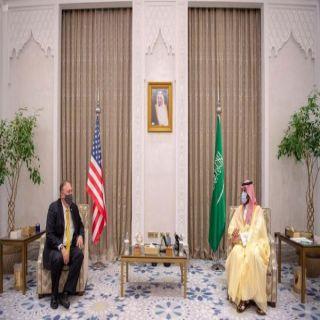 سمو ولي العهد يلتقي وزير الخارجية الأمريكي