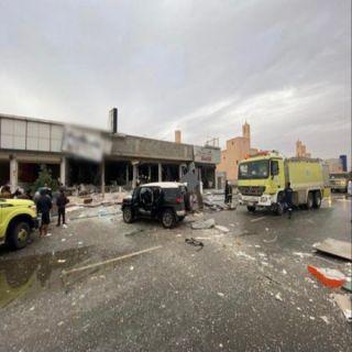 إصابة 6 أشخاص في وميض لحظي بمطعم بحي المونسية في #الرياض
