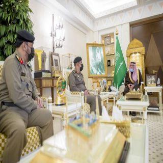 سمو أمير القصيم يستقبل نائب مُدير شرطة المنطقة اللواء الدكتور عويد العنزي