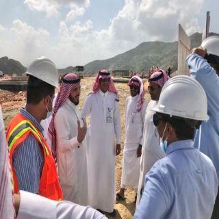 البناوي يتفقد مشروع محطة المياه المحلاه في #بارق