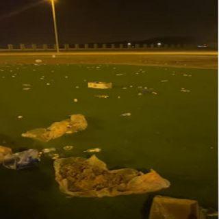 شاهد فيديو - أيادي العبث تطال حديقة المشهد في #بارق