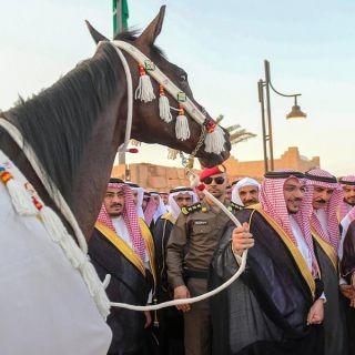 سمو أمير القصيم يرعى سباق الدرعية الأول بـ#ميدان_الملك_سعود_للفروسية.