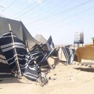 #أمانة_جدة إزالة مخيمات عشوائية على مساحة ٢١٦٠٠متر بنطاق الجنوب