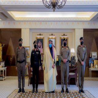 سمو أمير القصيم يُقلد المديهش والذويبي والمطيري رتبهم الجديد