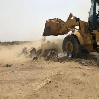 تعديات المزاحمية تستعيد 72 مليون متر مربع تعديات على اراض حكومية