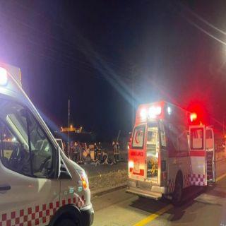 حادث انقلاب بمركز نخال في الباحة يُخلف  ثلاث حالات وفاة وإصابتين خطيرتين
