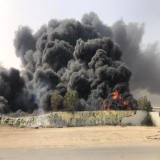 مدني #الدمام يُخمد حريق نفايات وإطارات بأحد الأحياء