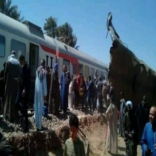 حادث تصادم قطارين بسوهاج مصر يُخلف ٣٢ حالة وفاة و66 حالة إصابة