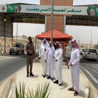 رئيس بلدية بلقرن يُرافقه رئيس المجلس البلدي  يزوران نقطة الضبط الأمني بعفراء