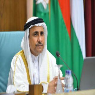 رئيس #البرلمان_العربي يهنئ الإمارات لبدء التشغيل التجاري لبراكة أول مفاعل نووي سلمي