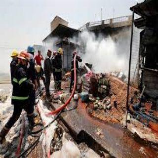 إنفجار اسطوانة غاز يتسبب في سقوط عدد من القتلى بمستشفى مصابي كورونا في بغداد