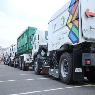 #أمانة_عسير ترفع أكثر من 18 ألف طن من النفايات خلال الأسبوع الماضي