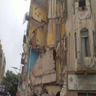 انهيار عقار مأهول بالسكان في الإسكندرية وأنباء عن انتشال 4 أشخاص