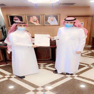 محافظ #محايل يُكرم مُدير #مصرف_الراجحي في المحافظة