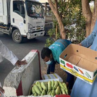 #أمانة_جدة مصادرة أكثر من 4 طن خضروات ضمن حملة على الباعة الجائلين بنطاق الصفا