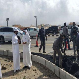 أمين عسير يواصل جولاته لمتابعة أعمال معالجة التشوه البصري بمدينة أبها