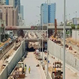 #أمانة_جدة تُنجز 90% من أعمال نفق تقاطع التحلية مع المدينة