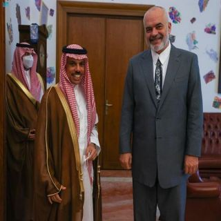 رئيس وزراء ألبانيا يستقبل سمو وزير الخارجية السعودي