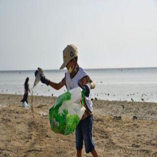 #أمانة_جدة تعزز الوعي البيئي بمبادرة تنظيف شاطئ خليج سلمان